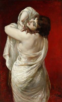 """""""Mujer de espaldas"""", 1881. MARTÍ ALSINA, Ramón"""