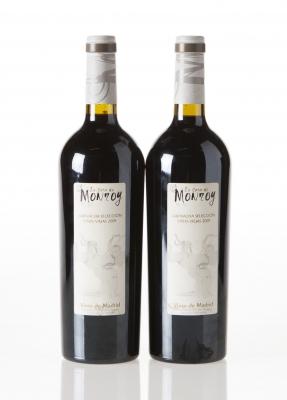 Dos botellas de La Casa de Monroy Garnacha Selección Vi