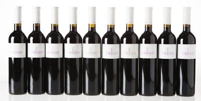 Diez botellas de Grego Garnacha Centenaria 2010.