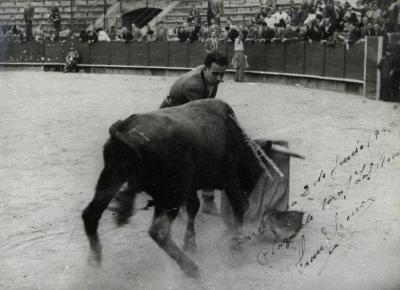 Fotografía dedicada por Fran García, 1942.