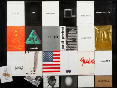 Colección de invitaciones de la galería René Métras de Barcelona.