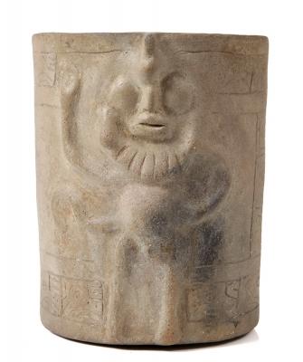 Vasija; Cultura Maya, México, 650 – 800 d. C