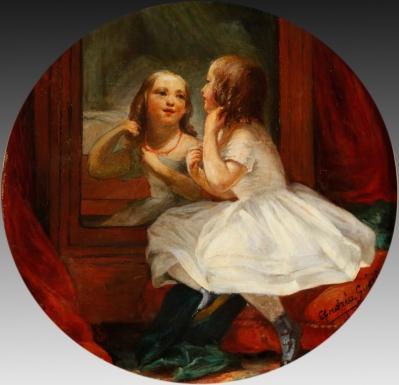 """Niña ante el espejo"". GUÉRIN, Andréa"