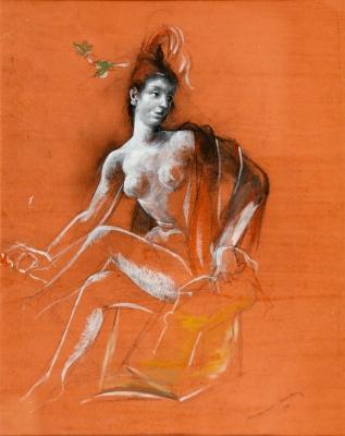 """Mujer sentada"", 1917. ANDREU ESTANY, Mariano"