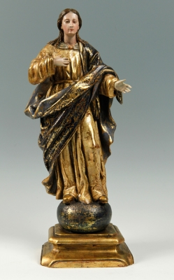 """""""Virgen María"""". Escuela italiana del siglo XVII."""