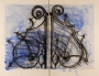 """""""Blue detail from the Crommelynck Gate"""". DINE, Jim"""