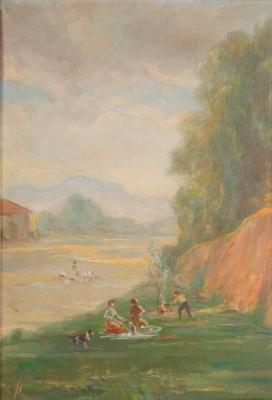 """""""Riera de Sant Cugat"""". PALMAROLA ROMEU, Ramón"""