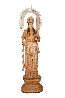 """""""Guan Yin"""". Talla en marfil; China, siglo XIX."""