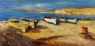 """Barcas en la playa"". TORRENS, Beatriu"