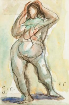 """Desnudo femenino"" GARCÍA ESTRAGUÉS, Francisco"