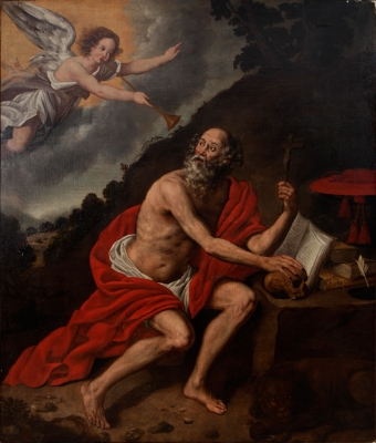 """San Jerónimo escuchando la trompeta del Apocalipsis"" A"