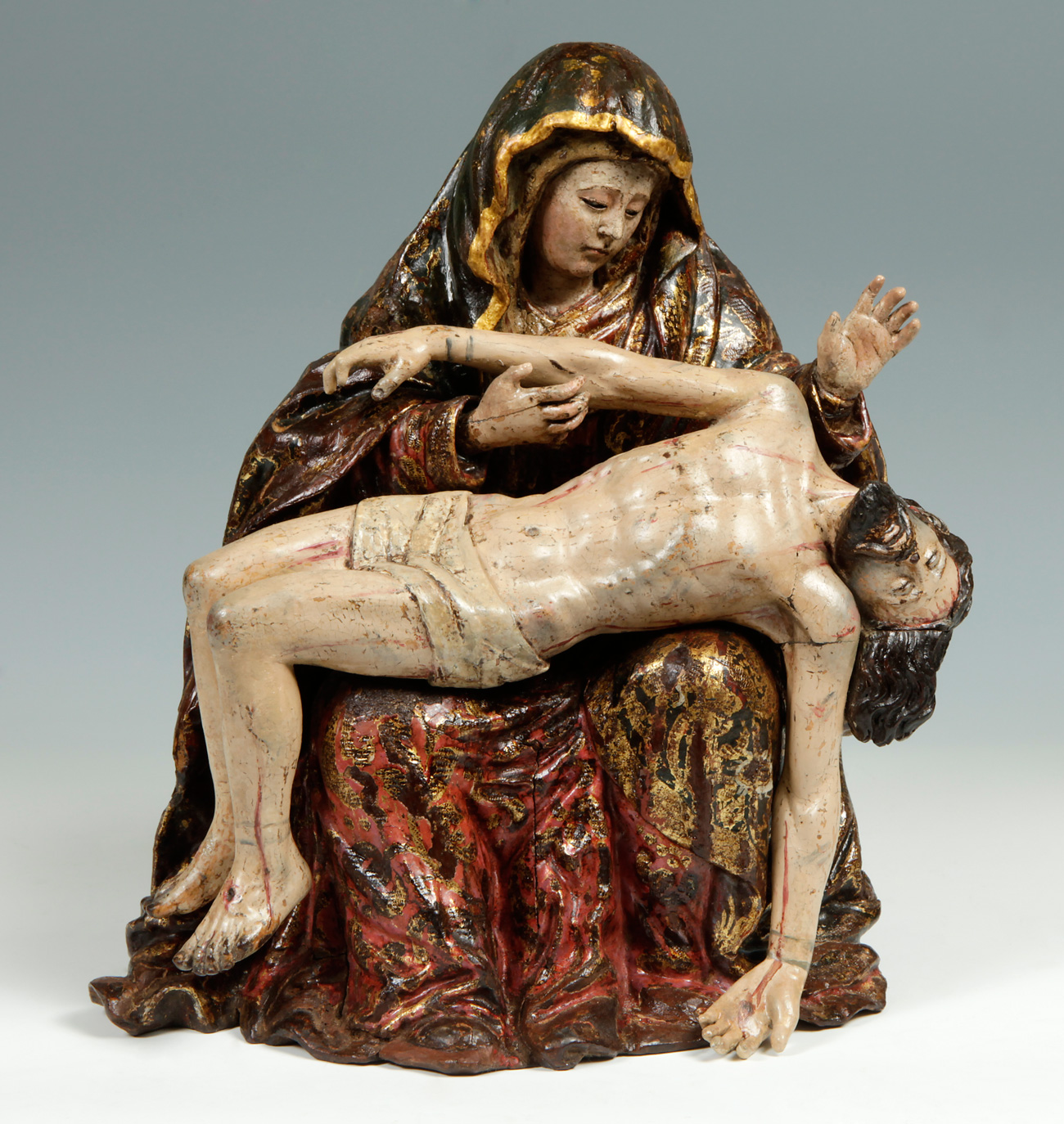"Spanish School, 17th century.""Piedad""."