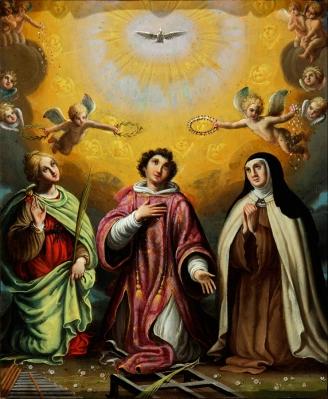 """""""Santa Cecilia, san Lorenzo y santa Teresa de Jesús"""" Es"""