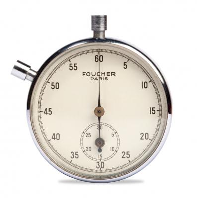 Cronómetro vintage Foucher, París, año 1958, con su caj