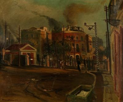 """""""Paisaje urbano"""", 1941. COMMELERAN CARRERA, Joan"""