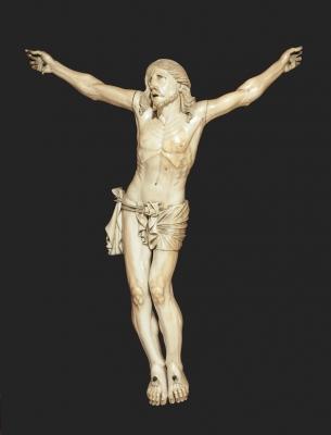 Cristo de marfil; España, principios del siglo XVII.