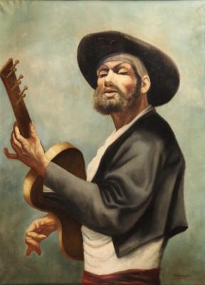 """El guitarrista"" MOISÉS FERNÁNDEZ DE VILLASANTE, Julio"