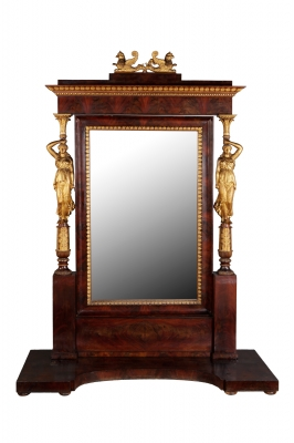 Empire style mirror, Spain, ca.1820.