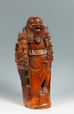 Bamboo carving. China, 19th century.