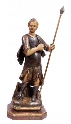 """""""Soldado"""". Escuela española del siglo XVII."""